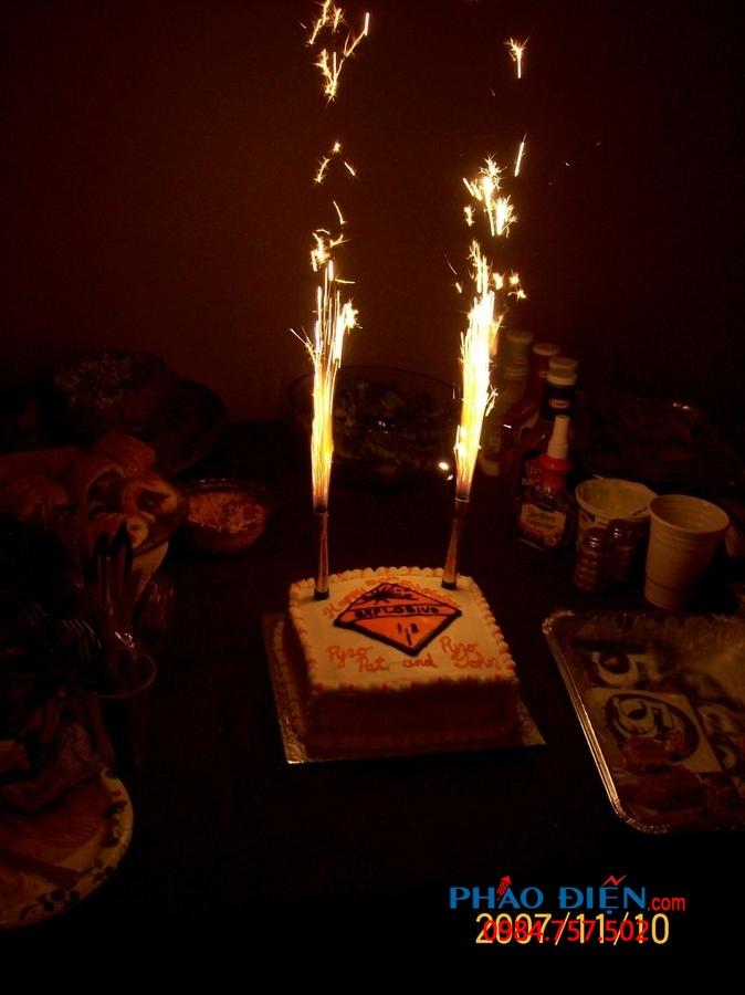 pháo bông phụt sinh nhật