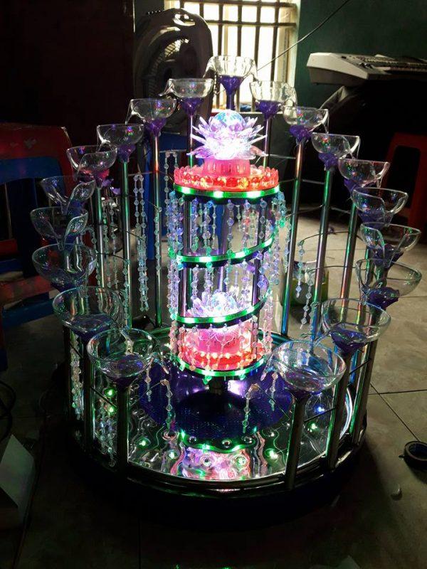 tháp ly đám cưới đẹp